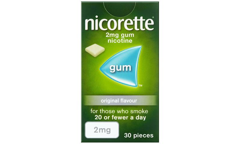 NICORETTE GUM 2MG ORIGINAL 30