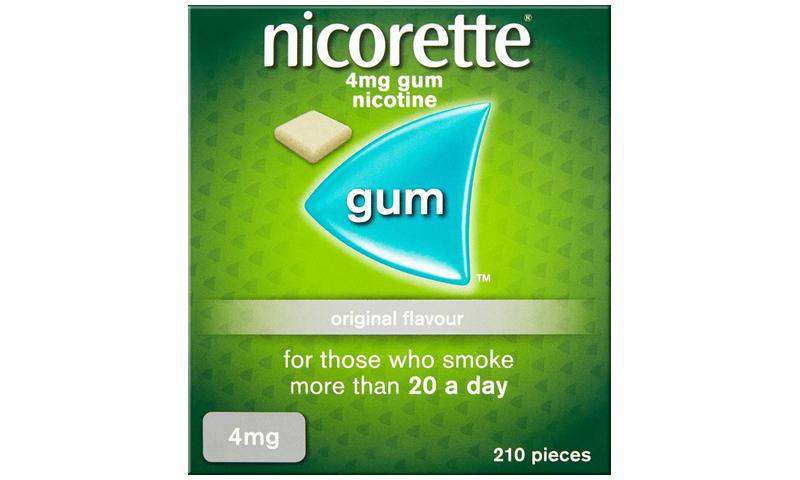 NICORETTE GUM 4MG ORIGINAL 210