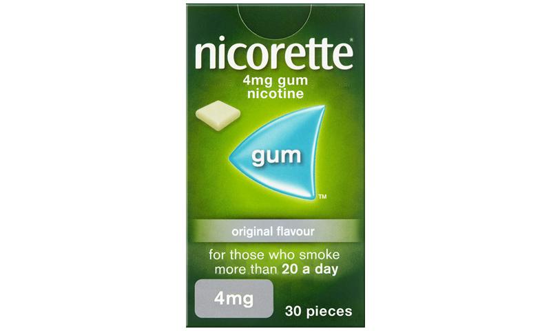 NICORETTE GUM 4MG ORIGINAL 30