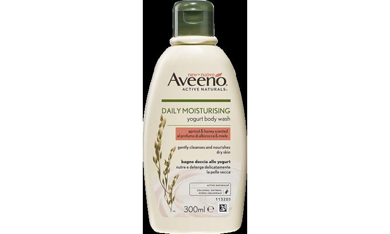 AVEENO® DAILY MOIST YOGURT BODY WASH APRICOT & HONEY 300ML