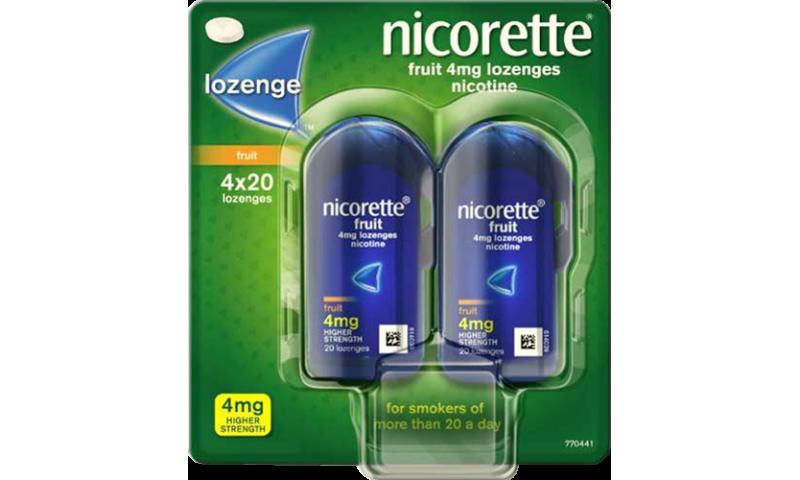 NICORETTE LOZENGE 4MG 80