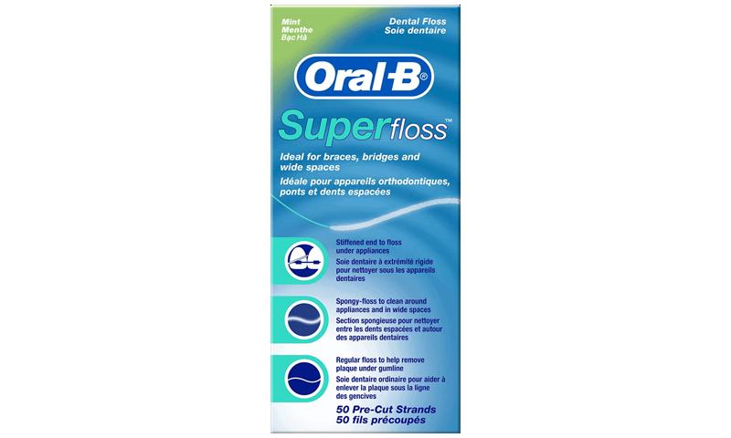 ORAL B FLOSS SUPER STRANDS 50S