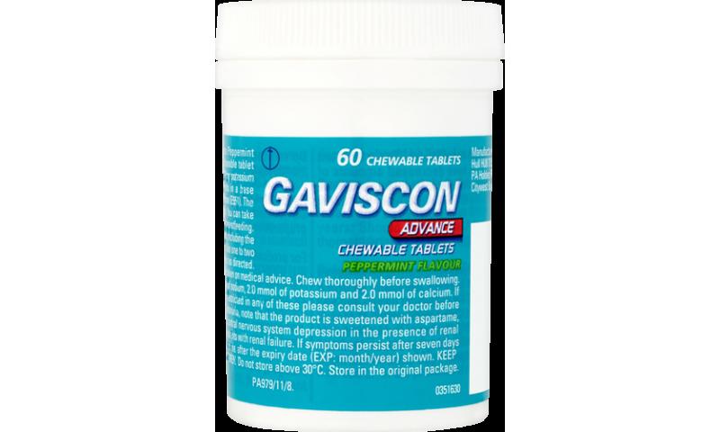 GAVISCON ADVANCE TABS 60S