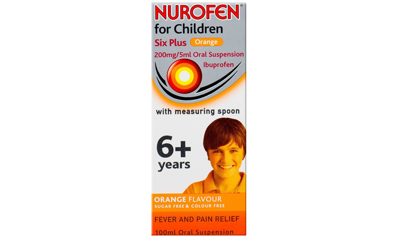 NUROFEN FC 6+ ORANGE SUSP 100ML