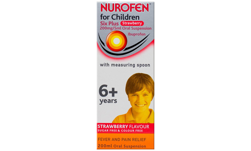 NUROFEN FC 6+ S/BERRY SUSP & SPOON 200ML