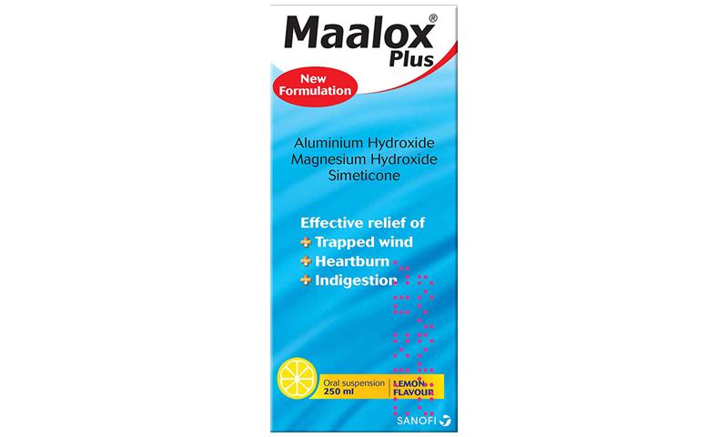 MAALOX PLUS SUSPENSION 250ML