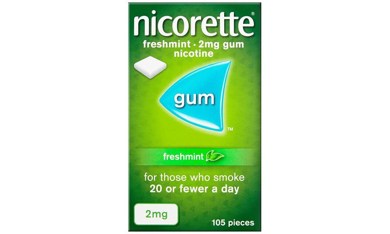 NICORETTE GUM FRESH-MINT 2MG 105