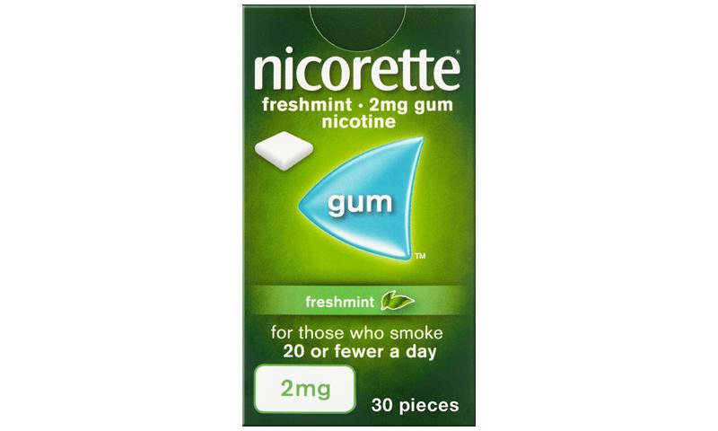 NICORETTE GUM FRESH-MINT 2MG 30