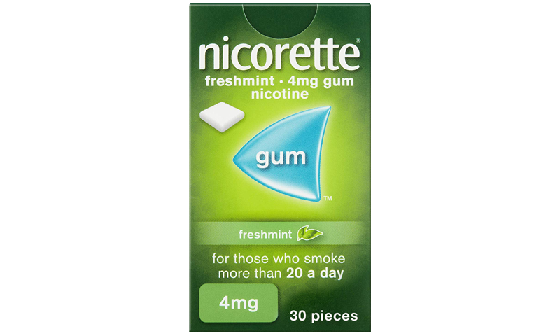 NICORETTE GUM FRESH-MINT 4MG 30