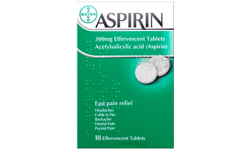 Aspirin 300mg Effervescent Tablets 18pk