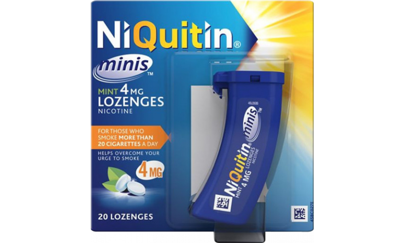 NIQUITIN MINI 4MG MINT LOZENGES 20