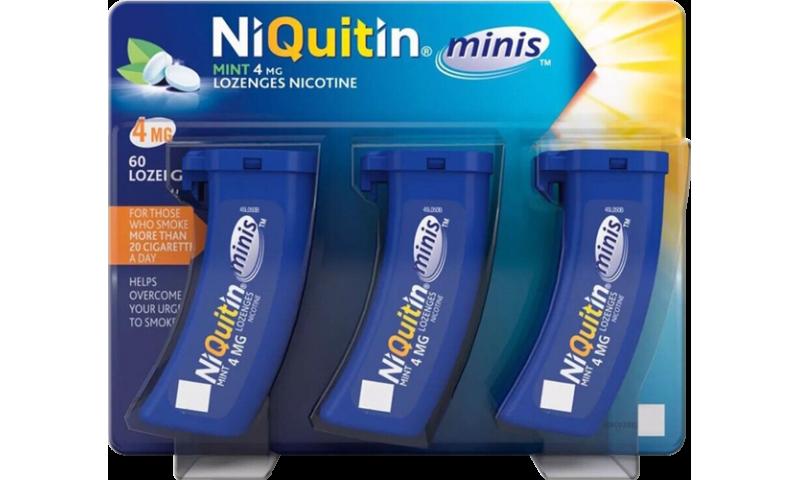 NIQUITIN MINI 4MG MINT LOZENGES 60