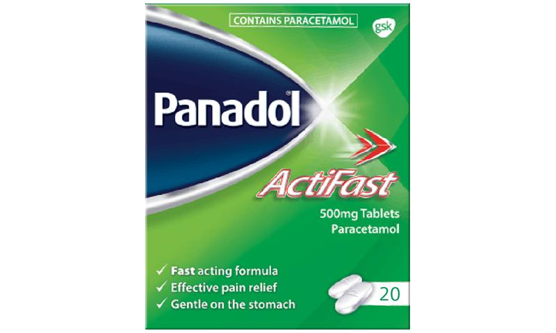 Panadol Actifast 500mg Film-coated Tablets 20pk