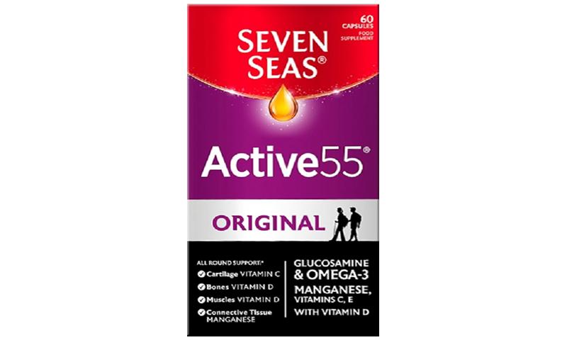 SEVEN SEAS ACTIVE 55 + GLUCOSA CAPS 60S