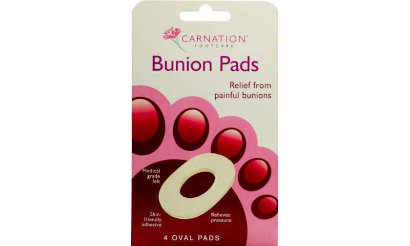 CARNATION BUNION PADS FOOTCARE OVAL 4S