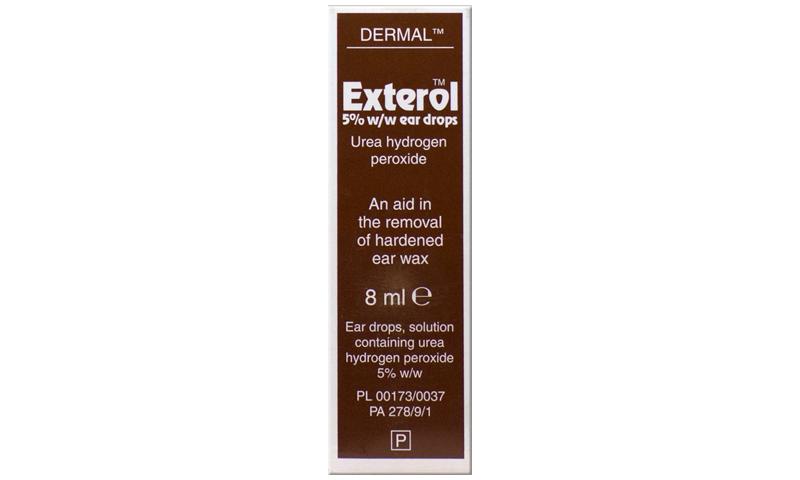 EXTEROL 5% EAR DROPS SOLUTION 8ML