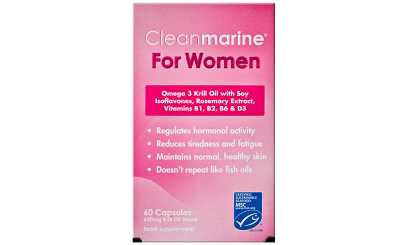 CLEANMARINE KRILL OIL WOMEN 600MG 60S