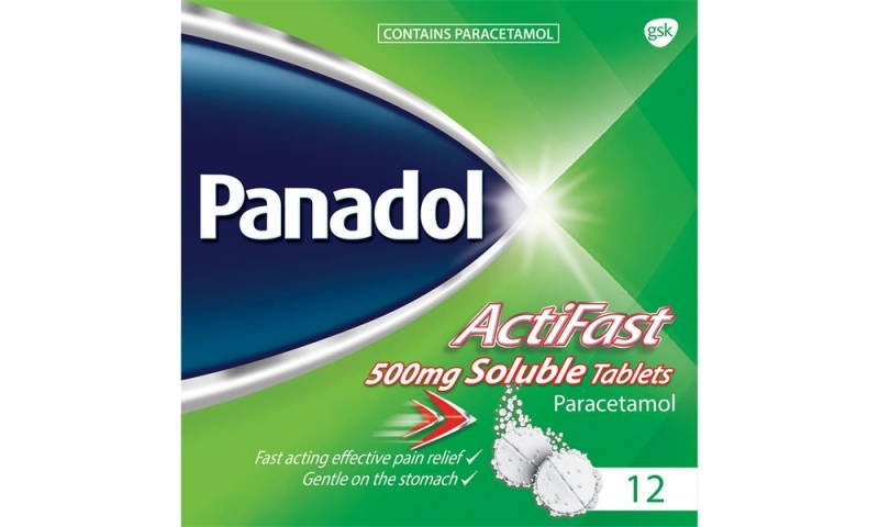 Panadol Actifast 500mg Soluble Tablets 12pk