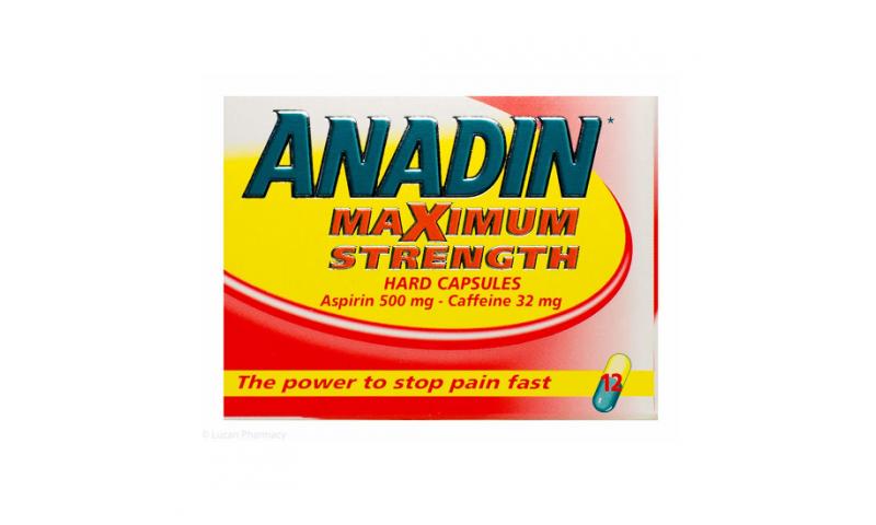 Anadin Maximum Strength Capsules 12pk