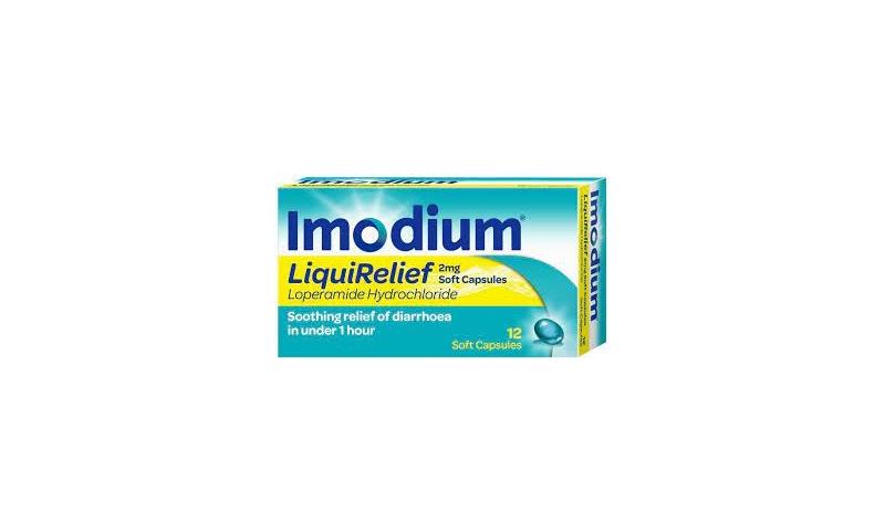 IMODIUM LIQUIRELIEF SOFT CAPSULES 12