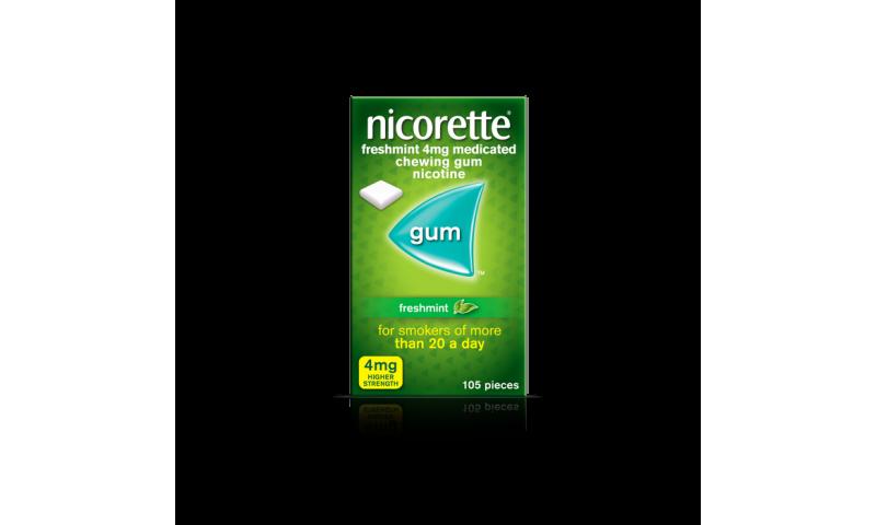 NICORETTE GUM FRESH-MINT 4MG 105