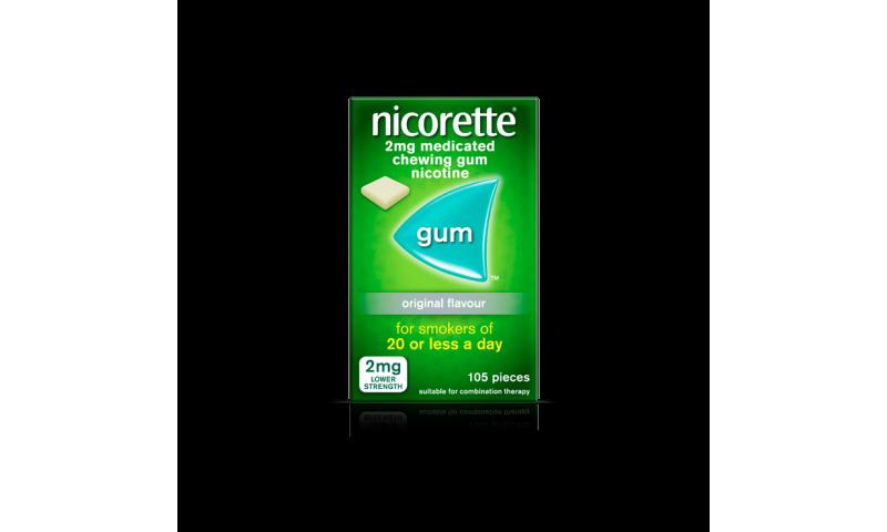 NICORETTE GUM 2MG ORIGINAL 105
